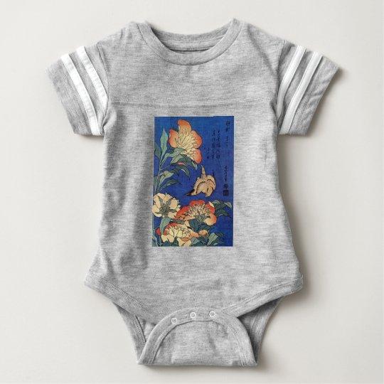 Blumen und ein Vogel Baby Strampler