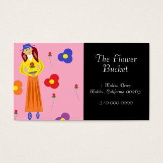 Blumen und Rose Visitenkarten