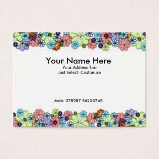 Blumen Visitenkarte