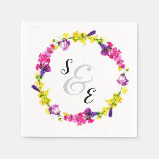 Blumen Wreath für jede Anlässe Papierservietten