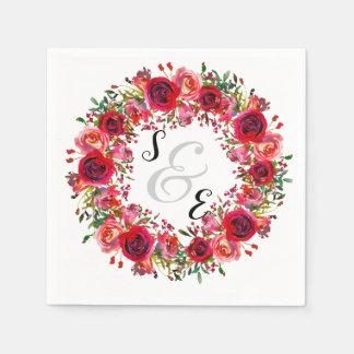 Blumen Wreath für jede Anlässe Serviette