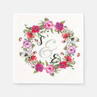 Blumen Wreath für jede Anlässe Servietten