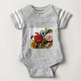 Blumenanordnungszeichnen Baby Strampler