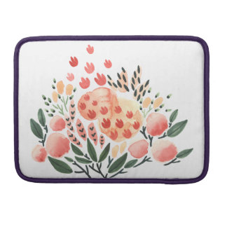 BlumenAquarell Macbook Prohülse Sleeve Für MacBooks