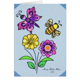 Blumenblätter und Flügel 1-Customized Karte