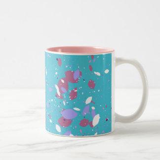 Blumenblätter Zweifarbige Tasse
