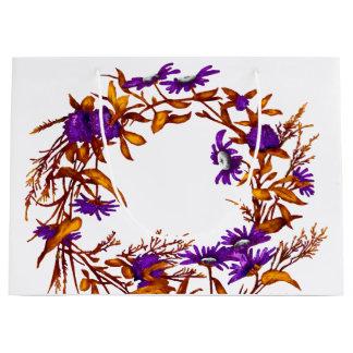 BlumenBlumewreath-Pflanzen-botanischer Gartenbau Große Geschenktüte