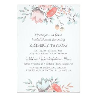 BlumenBrautparty-Vintage Einladung