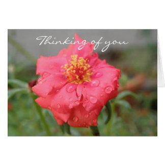 Blumendenken an Sie Grußkarte