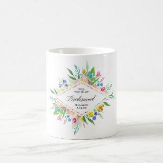 Blumendiamant-Brautjungfer Tasse