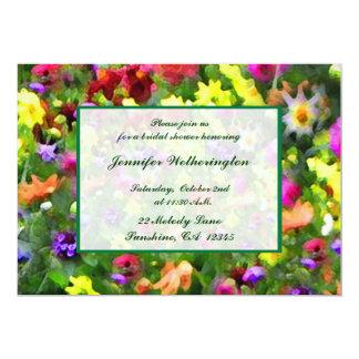 Blumeneindrucks-Brautparty 12,7 X 17,8 Cm Einladungskarte