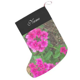 BlumenFoto der hübschen rosa Verbene-Blumen Kleiner Weihnachtsstrumpf