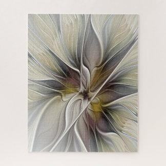 BlumenFraktal, Fantasie-Blume mit Erdfarben Puzzle
