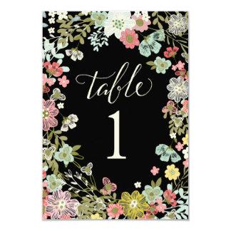 Blumengarten-Wedding Tischnummer-Karten 8,9 X 12,7 Cm Einladungskarte