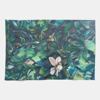 BlumenGeschirrtuch der tropischen Magnolie Handtuch