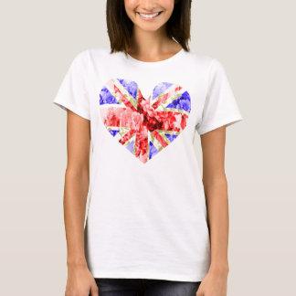 BlumenGewerkschafts-Jack, cooles unionjack, trendy T-Shirt
