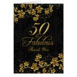 Blumengold 50 u. fabelhaftes danken Ihnen zu Grußkarte
