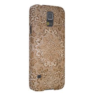 Blumenholzschnitzen Galaxy S5 Hülle