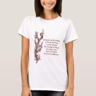BlumenInspirational Serenity-Gebet T-Shirt