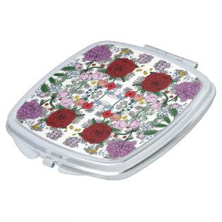 BlumenKaleidoskop-Vertrags-Spiegel Taschenspiegel