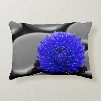 Blumenkissen dunkelblau Natur Deko Kissen