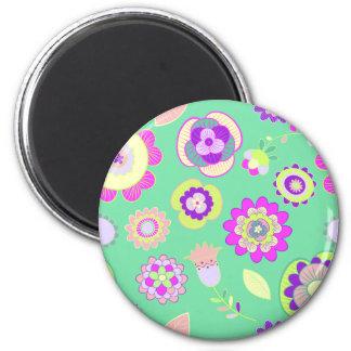 Blumenmagneten mit Pfefferminzaroma Runder Magnet 5,7 Cm