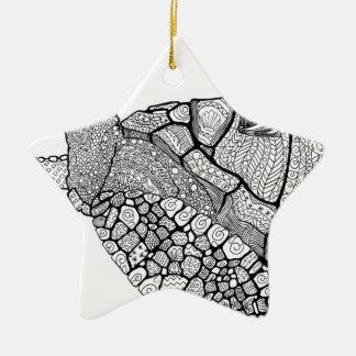 BlumenMeeresschildkröte Keramik Ornament