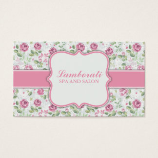 Blumenmuster-eleganter Friseur-Stylist-Salon Visitenkarten