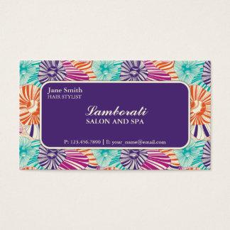 Blumenmuster-eleganter Stylist-Salon-Friseur Visitenkarten