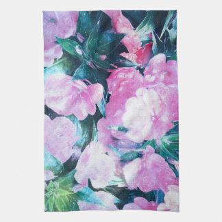 Blumenmuster-Geschirrtuch Handtuch