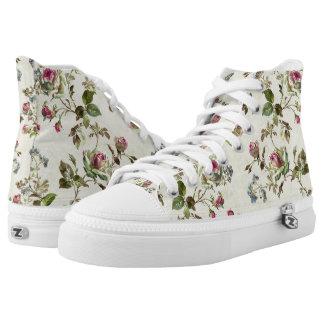 Blumenmuster Hoch-geschnittene Sneaker