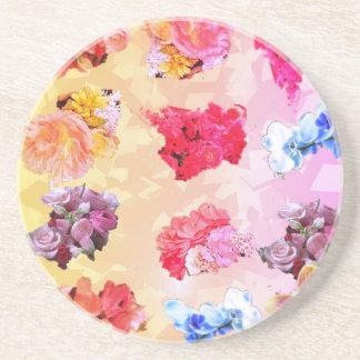 Blumenmuster in den mehrfachen Farben Getränkeuntersetzer