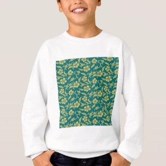 Blumenmuster Sweatshirt