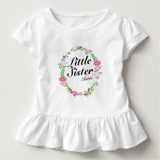 Blumenname Kranz der großen Schwester Kleinkind T-shirt