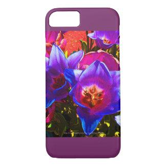 Blumenphantasie iPhone 7 Fall-Pflaumen-Akzente iPhone 8/7 Hülle