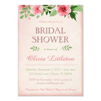 BlumenPolterabend-Einladungen - Blumenbraut 12,7 X 17,8 Cm Einladungskarte