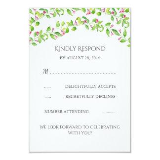 Blumenreben, die UAWG Karte Wedding sind