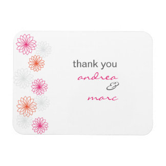 Blumenreflexions-Hochzeit danken Ihnen Magnet