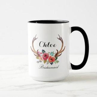 Blumenrotwild-Horn-Brautjungfer Tasse