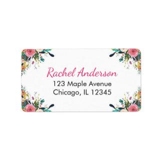 BlumenRücksendeadressen-Aufkleber, Adressaufkleber