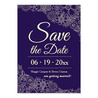 BlumenSave the Date Mitteilung 12,7 X 17,8 Cm Einladungskarte