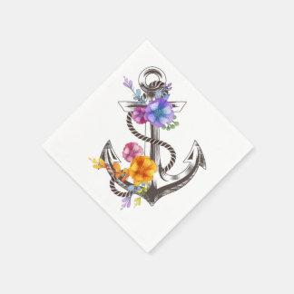 Blumenseeanker-Blumen-Party/Hochzeit Papierservietten