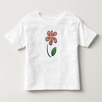 Blumenskizzegekritzel des niedlichen kleinkinder t-shirt