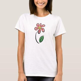 Blumenskizzegekritzel des niedlichen T-Shirt