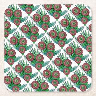 Blumenspray-Farbe Rechteckiger Pappuntersetzer