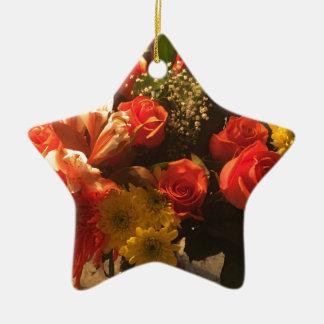 Blumenstrauß der Blumen Keramik Ornament