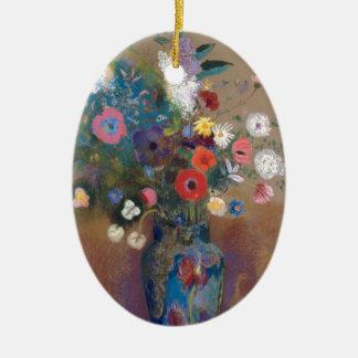Blumenstrauß der Blumen - Odilon Redon Keramik Ornament