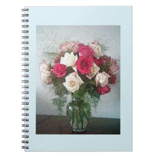 Blumenstrauß der Rosen Spiral Notizblock