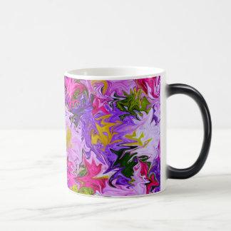 Blumenstrauß Farbdes abstrakten Kunst-mit Verwandlungstasse