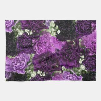 Blumenstrauß-lila Gartennelken Handtuch